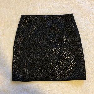 Metallic mini wrap skirt